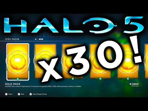 HALO 5 GOLD REQ PACK OPENING x30 (Halo 5 Guardians)