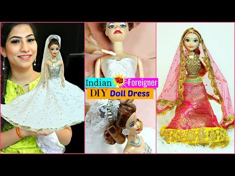 INDIAN vs FOREIGNER DOLL - DIY Doll Decoration | #Ideas #Anaysa #DIYQueen