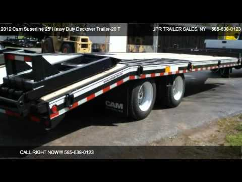 2012 cam superline 25 heavy duty deckover trailer 20 ton for sale rh youtube com