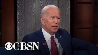 "Biden addresses recent gaffes during ""Late Show"" interview with Stephen Colbert"