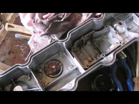 видео: одна из причин почему турбина кидает масло двигатель 4м40,Мицубиси паджеро(mitsubishi pajero)