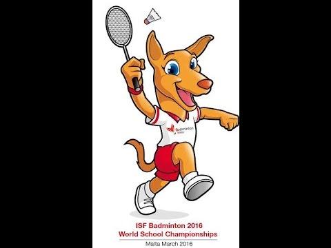 FINALS - ISF Badminton World Schools Championship - MALTA 2016 - CAM1