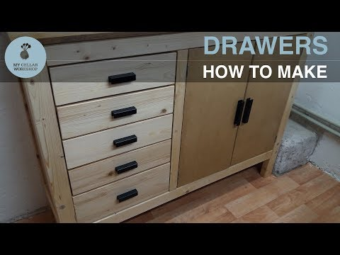 How to make Wooden Drawers (very simple) // Woodworking // My Cellar Workshop