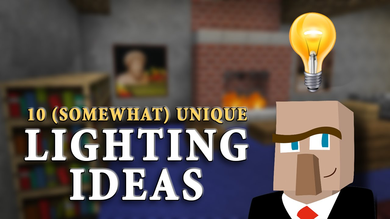 10 UNIQUE LIGHTING IDEAS: Improve The Look Of YOUR Minecraft Builds!