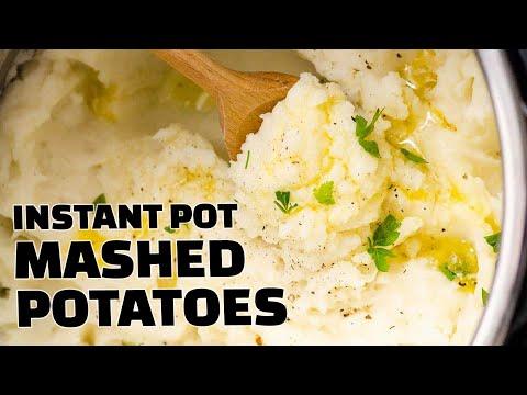Instant Pot Mashed Potatoes Recipe   NO drain, NO Chop, NO Heating Milk