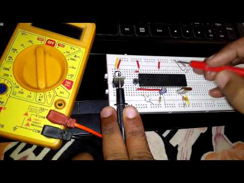 Testing continuity in the Breadboard Circuit using Multimeter