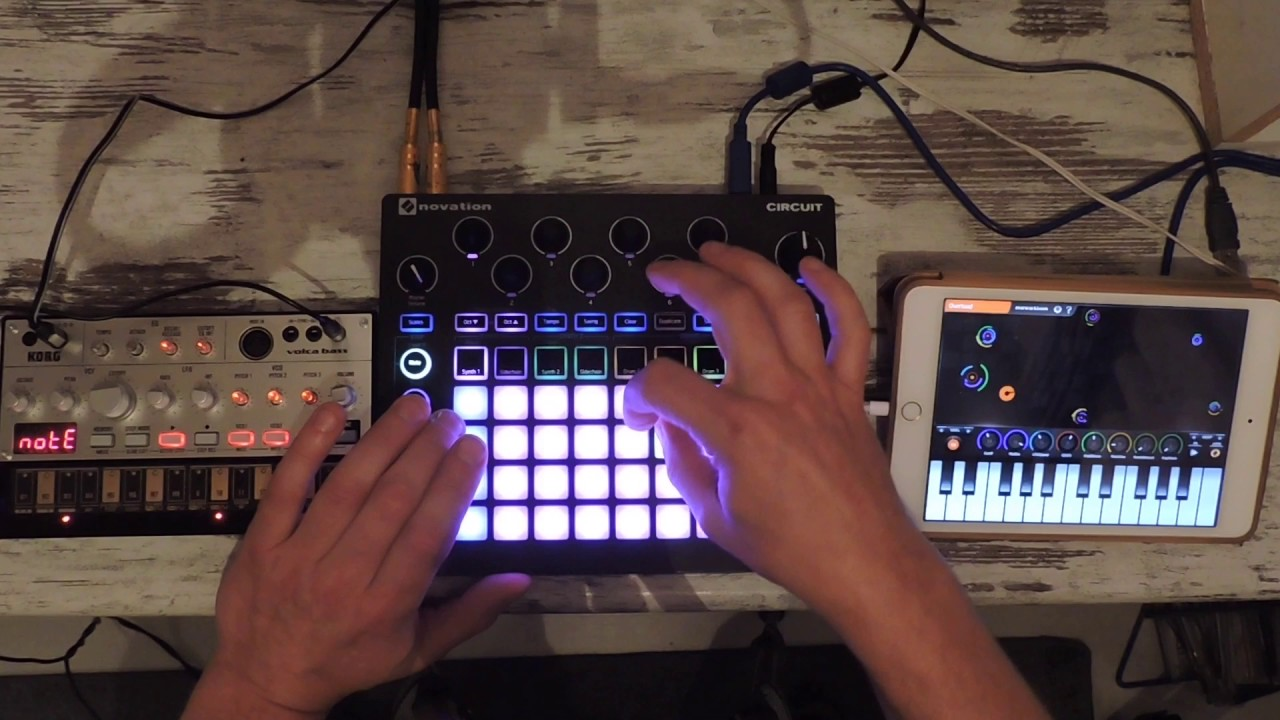 Novation Circuit Volca Bass Ipad Apps Electronic Music Jam Youtube