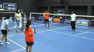 P.V Sindhu U-19 Gold Medalist conducts a Badminton clinic at Manav Rachna Sports Academy