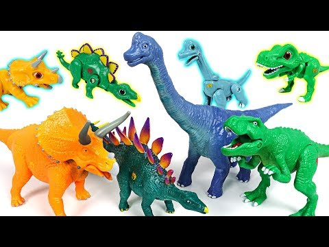 Dino Mecard real dinosaurs! Action figure Tyrannosaurus, Triceratops, Stegosaurus - DuDuPopTOY