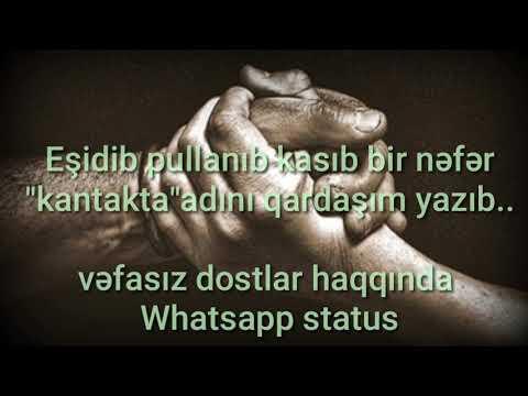Whatsapp status üçün 2018-Vefasiz insanlar Şeir
