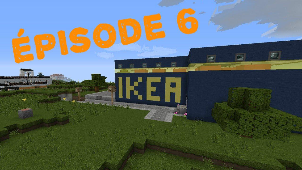 Minecraft construction d 39 une ville 6 le magasin de for Minecraft meuble
