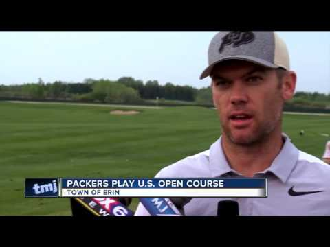 """Green Bay Packers' players """"tee off"""" at Erin Hills ahead of U.S. Open Championship"""