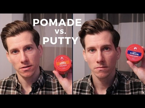 Pomade vs. Putty: What's the difference?