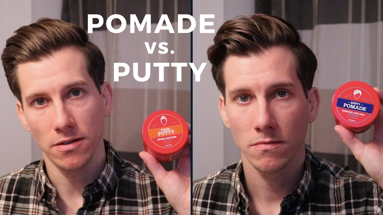 how to style your hair with pomade pomade vs putty what s the difference 7434