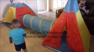 Tenda Bermain Anak Model Istana Kids Portable Tent Biru  Termurah