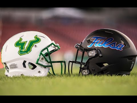 2018 American Football Highlights - #23 USF 25, Tulsa 24