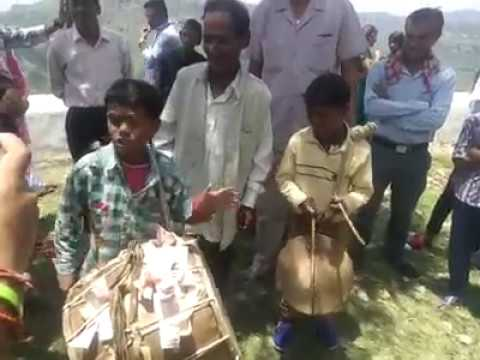 Child talent dhol damo garhwali cultural music