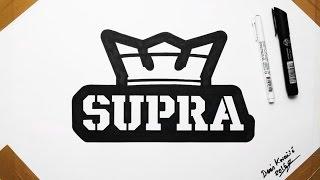 Supra Shoes Logo Fan Art Drawing