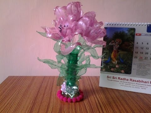 Best out of waste plastic bottles transformed to pretty for Best out of waste easy to make