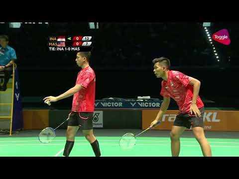 Badminton 29th SEA Games Fajar Alfian Rian Ardianto vs Ong Yew Sin Teo Ee Yi Men's Team Fn