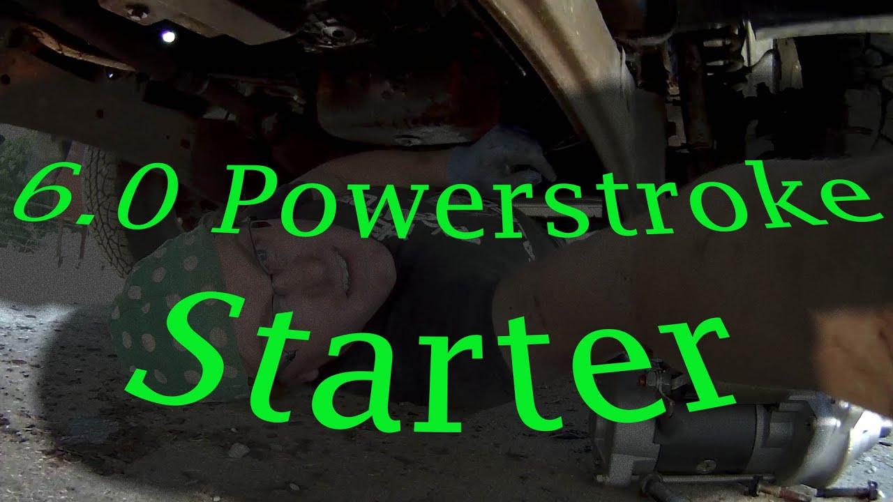 6 0 powerstroke starter replacement