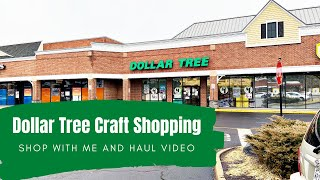 Dollar Tree Craft Shopping - Shop With Me & Haul!