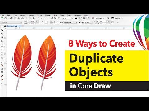 8 Ways to duplicate object in CorelDRAW