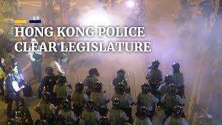 Hong Kong police clear legislature