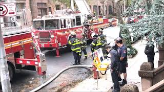 FDNY BOX 1152 - FDNY RESPONDING TO & BATTLING A 10-77 HIGH RISE FIRE ON WEST 84TH STREET IN NYC.