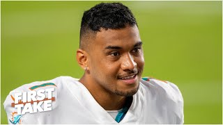 The Dolphins name Tua Tagovailoa their starting QB, Ryan Fitzpatrick will back him up   First Take