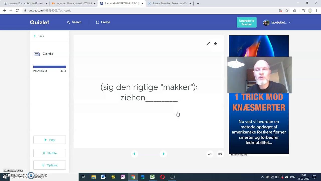 JS-TYSK (Grammatik) - VERBER (uregelmæssige) Glosetræning Quizlet