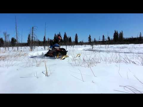 Hudson Bay Saskatchewan Off trail snowmobiling