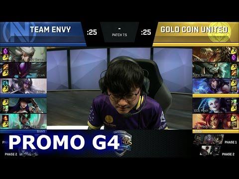 Team EnVyUs vs Gold Coin United | Game 4 Promotion / Relegation S7 NA LCS Summer 2017 | NV vs GCU G4