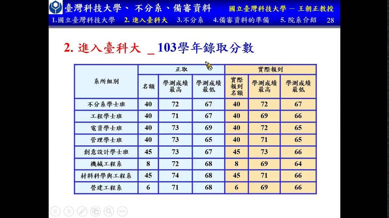 2014 臺科大 不分系 備審資料 工程 電資 - YouTube