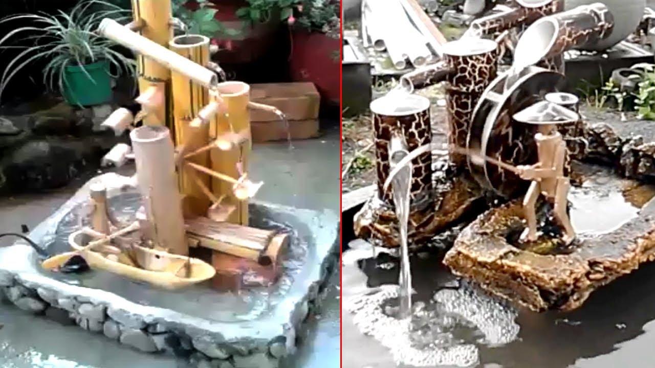 12 Miniatur Air Mancur Bambu Unik Dan Cantik Youtube