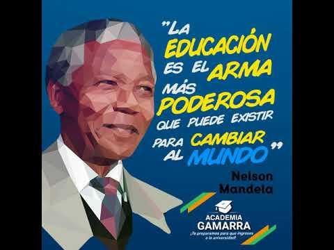 Frase De Nelson Mandela Sobre Educación Youtube