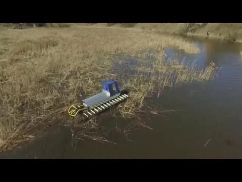 """Земснаряд, плавающий экскаватор, амфибия """"Боцман"""" The Dredger Amphibious Excavator"""