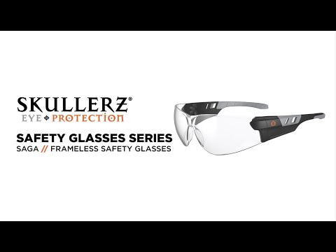 Skullerz® SAGA Frameless Safety Glasses Provide Lightweight Eye Protection with Max Field of Vision