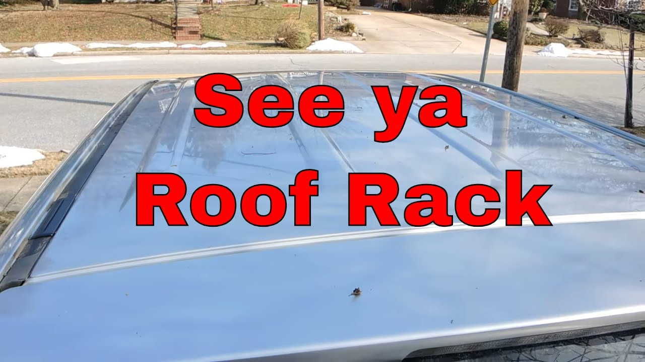 Toyota Roof Rack Delete Youtube