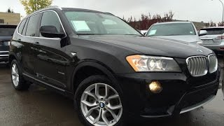 Pre Owned Black 2013 BMW X3 AWD 28i In Depth Review | Lloydminster Alberta