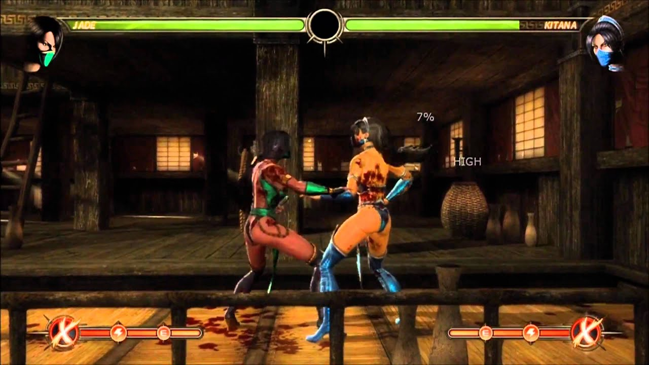 Mortal Kombat 9 Jade Combo Video Youtube