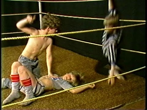 boy wrestling video Mar 2017  In a video shared by ABC News on Twitter, the four-year-old boy and the five- year-old girl are seen facing each other in a wrestling match .