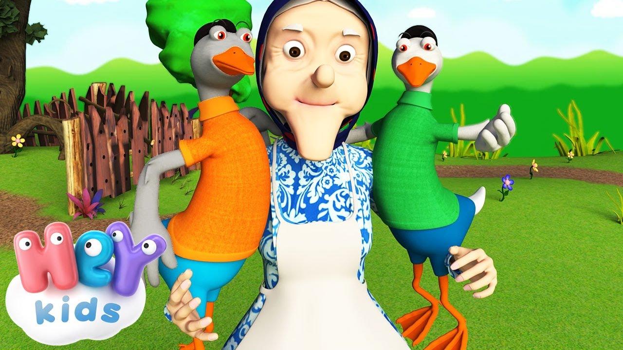 Жили у бабуси два весёлых гуся. Детская песня youtube.