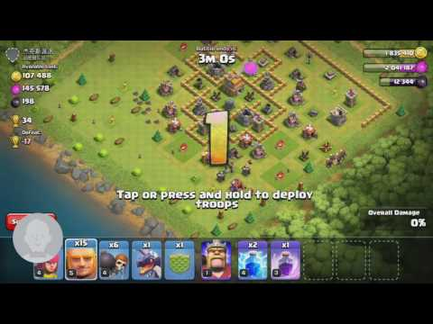 Clash of clans, Giant attack, baby dragon, rage spell