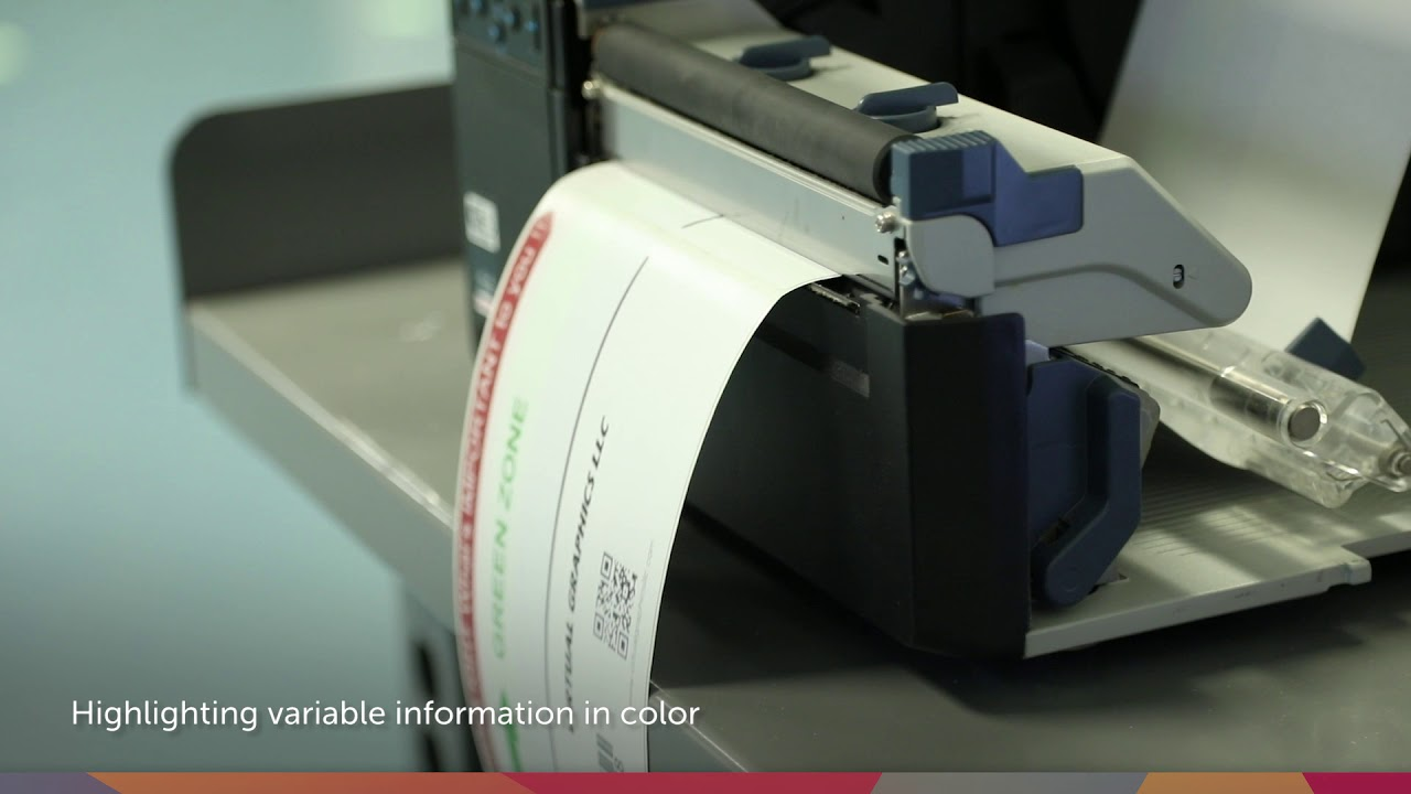 Color Direct Thermal Labels - No ink or ribbons - RevealPrint