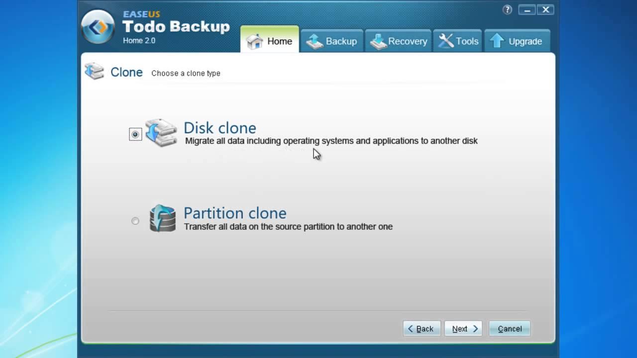 Free copy clone hard drive disk software to upgrade hard drive -EaseUS Todo  Backup