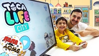 Папа РОБ и ЯРИК Видео обзор приложения TOCA LIFE CITY Веселая игра для детей Папа Дома