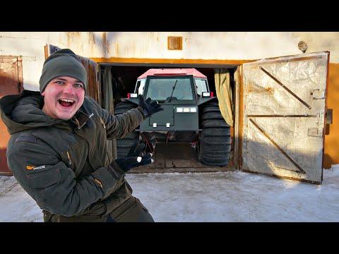 Купили гараж на аукционе за 100 тысяч рублей, а там огромный вездеход!