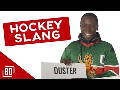 CAPTAIN OF KENYA'S HOCKEY TEAM LEARNS HOCKEY SLANG