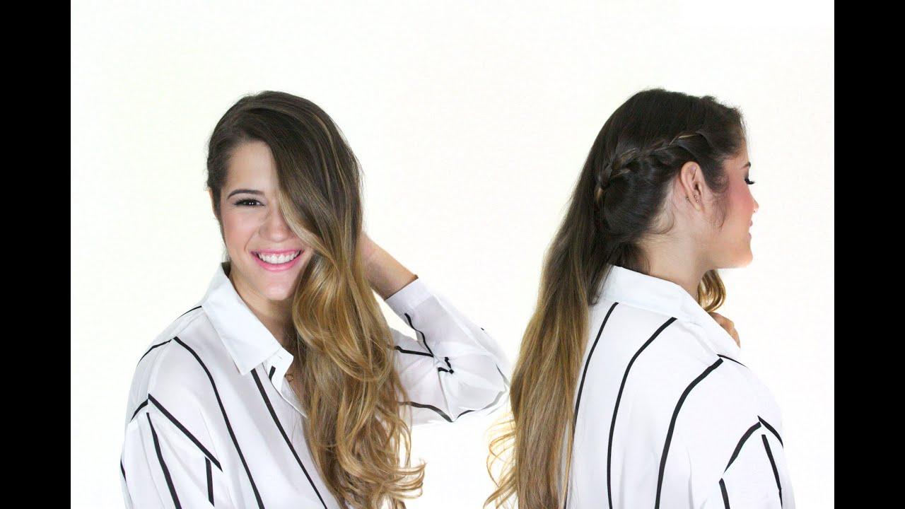 Peinados semi recogido de lado